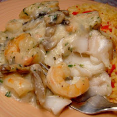 Flounder Fillets in Shrimp Sauce for Two