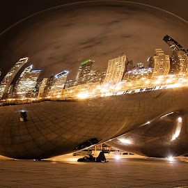 The Bean!  by Jonathan Mould - Buildings & Architecture Statues & Monuments ( reflection, skyline, the bean, chicago, downtown )