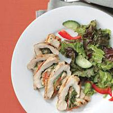 Caprese-Style Stuffed Chicken Rolls with Greens