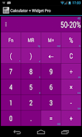 Screenshot of Calculator + Widget 21 themes