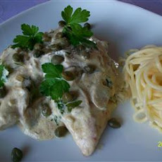 Chicken Breasts in Caper Cream Sauce