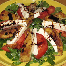 Deconstructed Eggplant Parm Salad with Balsamic Reduction