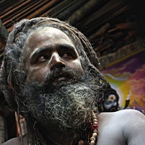 sadhu by Abhishek Mandal - People Portraits of Men ( face, hindu, indian. monk.sadhu, color, addiction, addicted, holy, eyes )