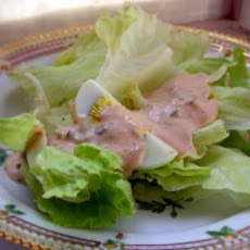 Chopped Romaine Salad with Thousand Island Dressing