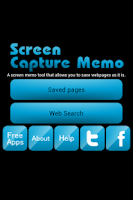 Screenshot of Screen Capture Memo: Save Web