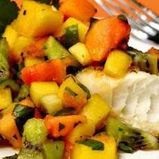 Fresh Mango Papaya Kiwi Salsa