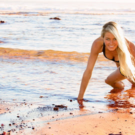 Fitness happiness by Helena Lindgren - Sports & Fitness Fitness ( fitness happiness beach fun smile )