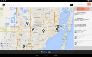 Screenshot of Apollo Bank Mobile Banking