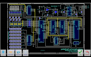 Screenshot of palmDraft(lite) ElectronicsCAD