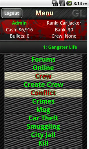 gangster-life-mmorpg for android screenshot