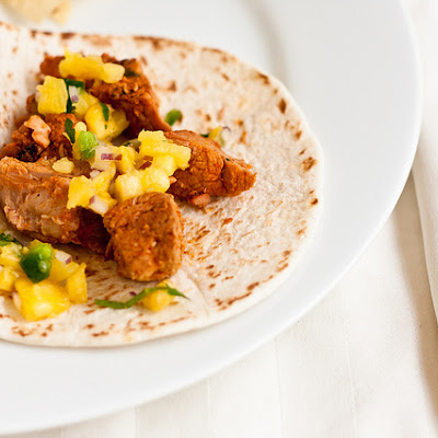 Tacos al Pastor with Pineapple Salsa