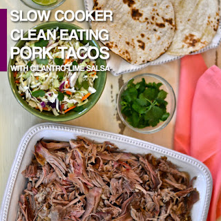 Slow Cooker Clean Eating Pork Tacos