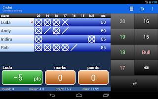 Screenshot of Darts Scoreboard