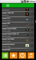 Screenshot of the Gospel Radio