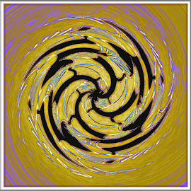 Very Abstract by Yvonne Collins - Digital Art Abstract ( abstract, distorted, framed, edit, design )