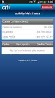 Screenshot of Citi Mobile VE