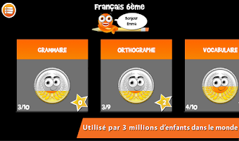 Screenshot of iTooch Français 6ème