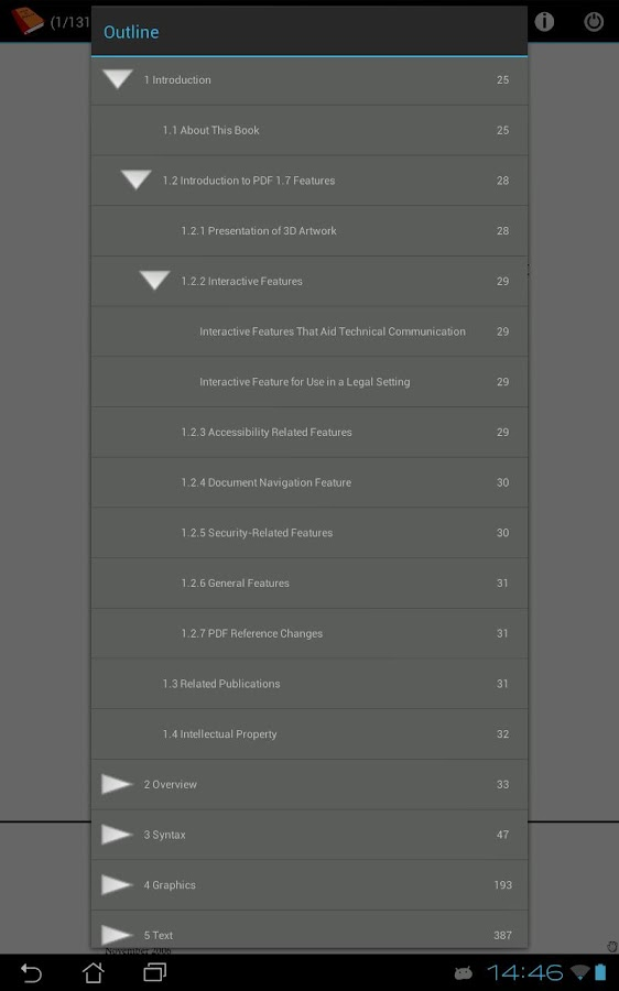 PDF and DJVU Reader Screenshot 3