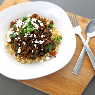 Balsamic Lentils with Parsley