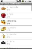 Screenshot of Italian in Pictures : Food