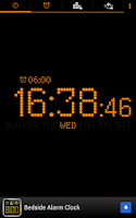 Screenshot of Bedside Alarm Clock Free