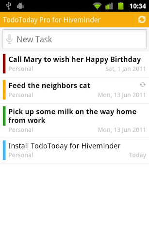 TodoToday Pro for Hiveminder