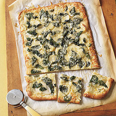 Spinach and Potato Pizza