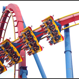 Superman!!   by Dale Carney - City,  Street & Park  Amusement Parks ( superman, amusement parks, roller coasters, fun, six flags )
