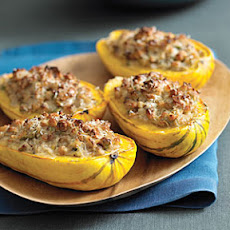 Nut-stuffed Delicata Squash