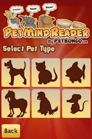 Screenshot of Pet Mind Reader by PetBongo