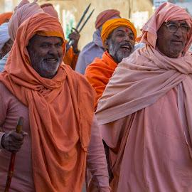 Men in Orange by Janet Marsh - People Street & Candids ( pushkar, india, man,  )