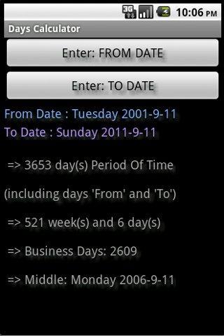 Days Calculator