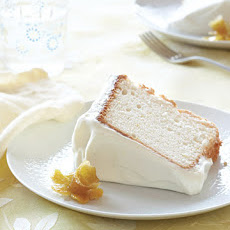 Lemony Angel Food Cake