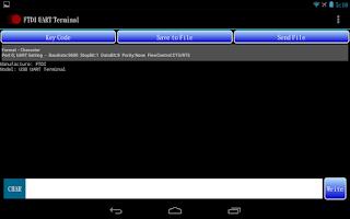Screenshot of FTDI UART Terminal