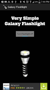 Simple Galaxy Flashlight Free - screenshot