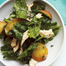 Spinach Salad with Chicken and Crispy Potatoes