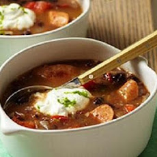 Spicy Italian Sausage and Black Bean Soup