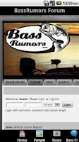 Screenshot of BassRumors