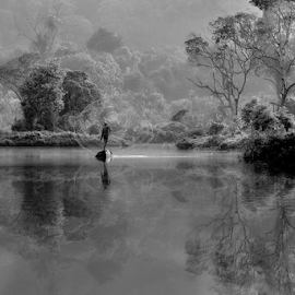 by DODY KUSUMA  - Landscapes Forests ( black and white, b&w, landscape )