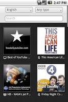 Screenshot of DriveCast