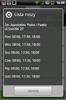 Screenshot of Msze.pl