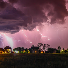 Storm is coming II by Srdjan Vujmilovic - Landscapes Weather ( canon, home, bolt, land, forest, house, landscape, photo, nightscape, lightning, life, nature, #bolt #bulb #canon #cloud #clouds #cloudy #forest #house #land #landscape #landscapes #life #light #lightning #nature #night #night photography #photo, bulb, weather, cloud, cloudy, stree, night, place, light, , storm, stormy, colorful, mood factory, vibrant, happiness, January, moods, emotions, inspiration )