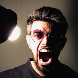 Self Portrait by Rohan Gupta - People Portraits of Men