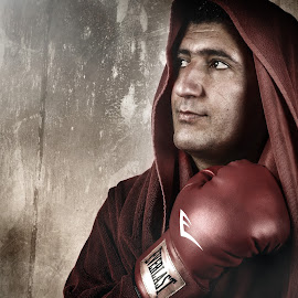 Pride by Marcin Trojak - Sports & Fitness Boxing ( boxer, gloves, box, fighter, portrait )