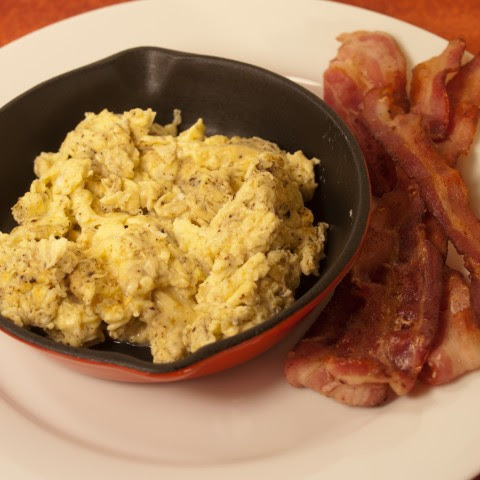 Crispy Bacon and Scrambled Eggs