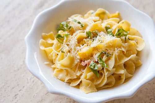 Zucchini Pasta Carbonara