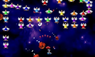 Screenshot of Chicken Invaders 2