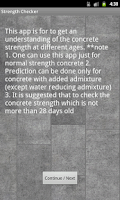Screenshot of Concrete Strength Checker