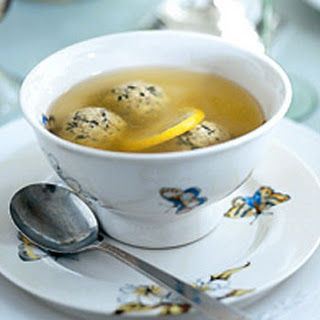 Lemon-Scented Chicken Soup with Parsley-Sage Matzo Balls