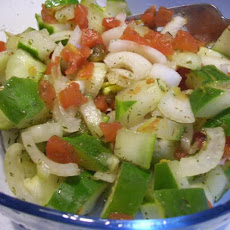 Easy Cucumber, Tomato and Onion Salad